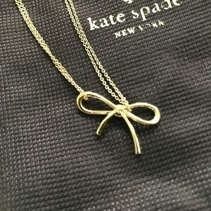 Kate Spade Gold Bow Necklace - NWT